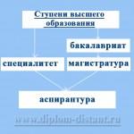 ступени высшего образования diplom-distant.ru